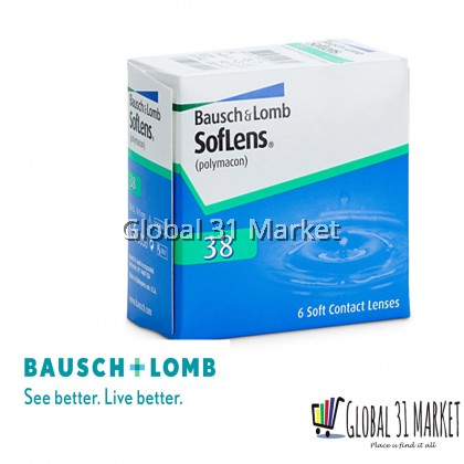 Bausch & Lomb Softlens 38 Clear Monthly Contact Lens ( 6 pieces / box)