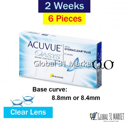 ACUVUE OASYS® with HYDRACLEAR® PLUS Contact Lenses 14mm Base Curve 8.4mm