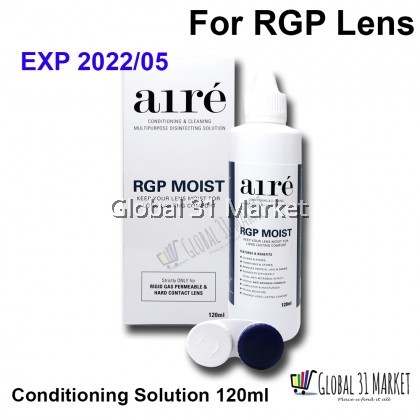 Aire RGP Moist Conditioning & Cleaning MultiPurpose Disinfecting Solution 120ml  ( For RGP lens Only!)
