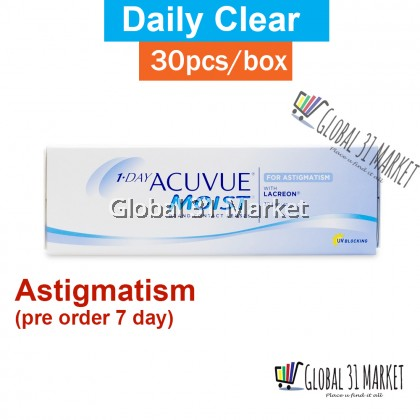 1-DAY ACUVUE® MOIST® for ASTIGMATISM Contact Lenses 30pcs / box Pre order 7 day